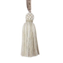 Ribbon Tassel Linen Natural
