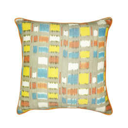 Abstract Grid Multi Piped Cushion Cover -50cm