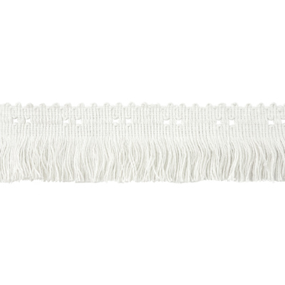 Fringe, Fancy Block - White