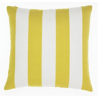 Awning Stripe Acid Yellow Cushion Cover - 50cm