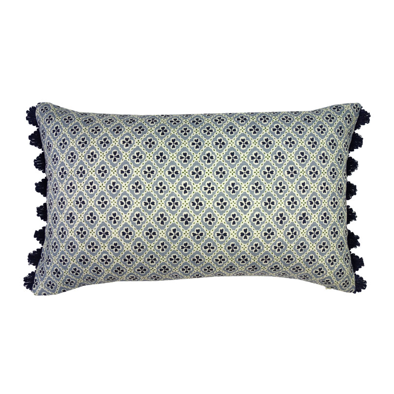 No Chintz x Anna Spiro Paniola Light Blue Cushion