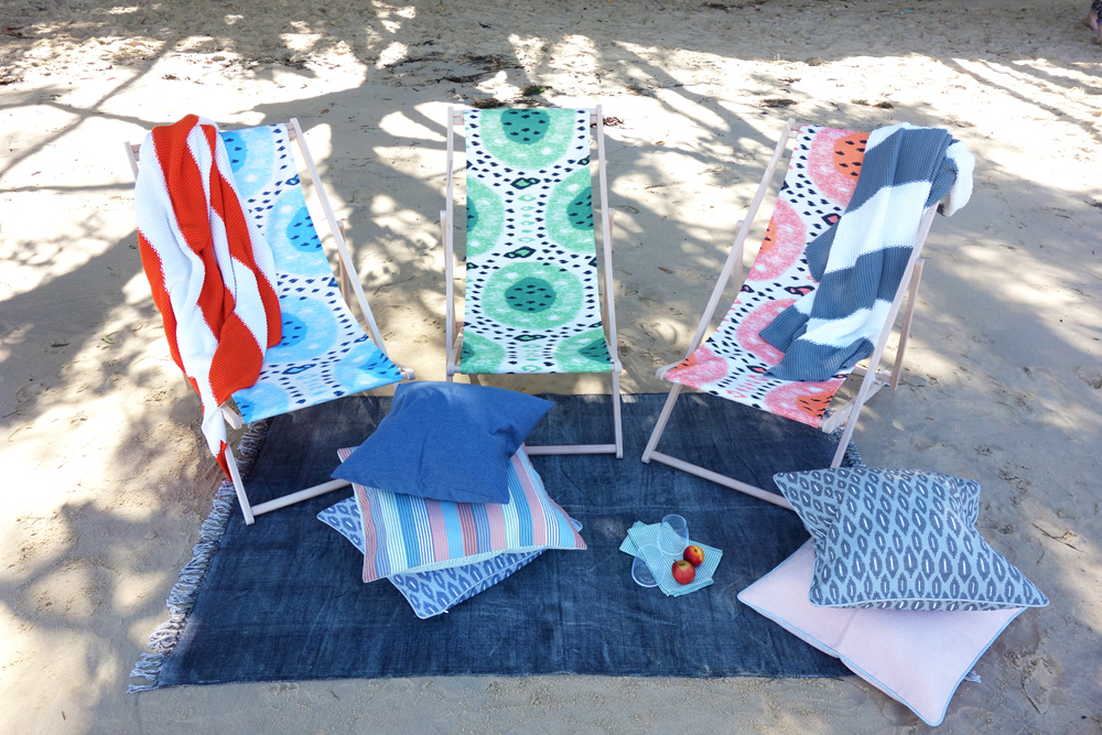 No Chintz Summer Melon Outdoor Fabrics Collection