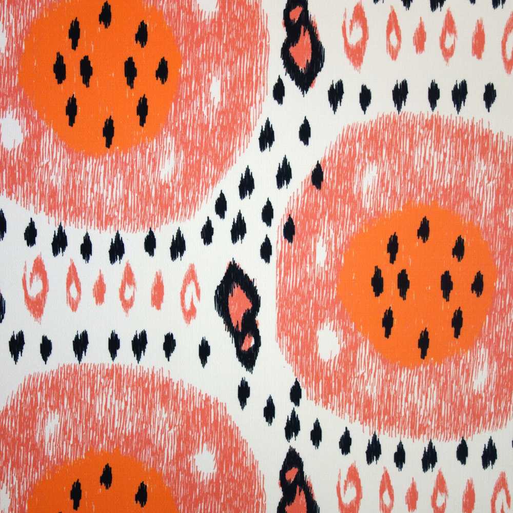 No Chintz Summer Melon Outdoor Blush Fabric