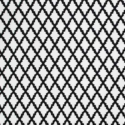 Antique Lattice Outdoor Fabric - Black
