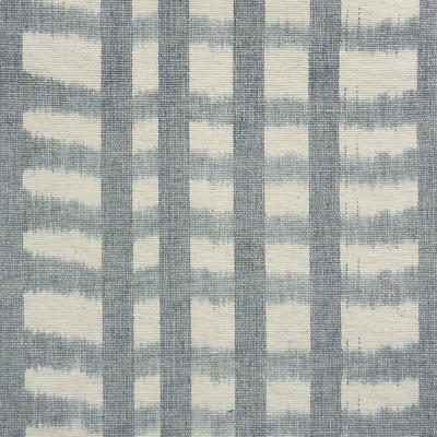 Fishnet Ikat Fabric - Indigo