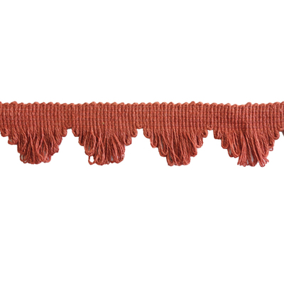 Braid, Fan Edge Single - Rust Red