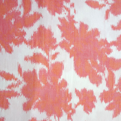 Floral Trail Ikat Fabric - Coral