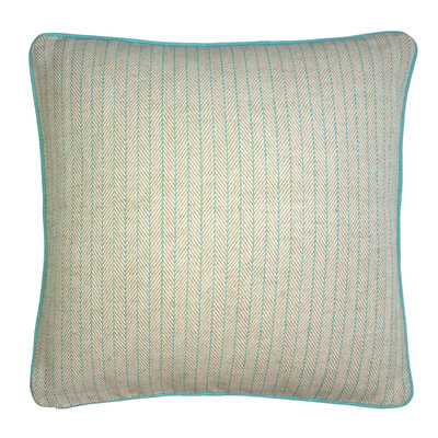 Twill Stripe Aqua Cushion Cover - Various Sizes