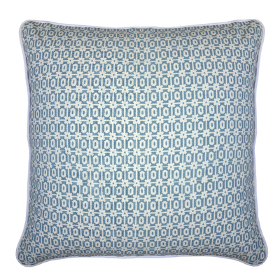 Maisie Storm on White Cushion Cover - 50cm