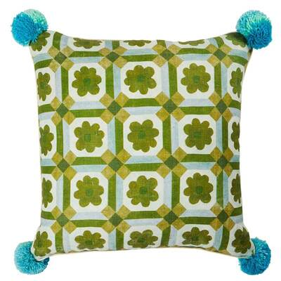 Aster Green Cushion - 50cm